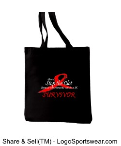 Survivor Black Recycled Cotton Everyday Tote Design Zoom